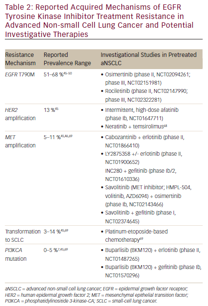 Current and Future Therapeutics for Patients with Non-small